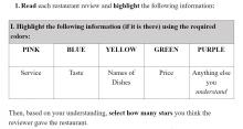 Highlighter Summary Instructions (Multiple Colors)