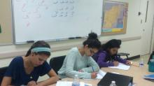 Students doing activity